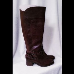 Marc Fisher Kacee Leather Riding Boots size 6 1/2